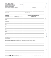 Camp Health Record Form